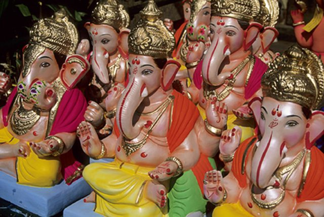 Rows of Ganeshas (from the Eternal Ganesha)