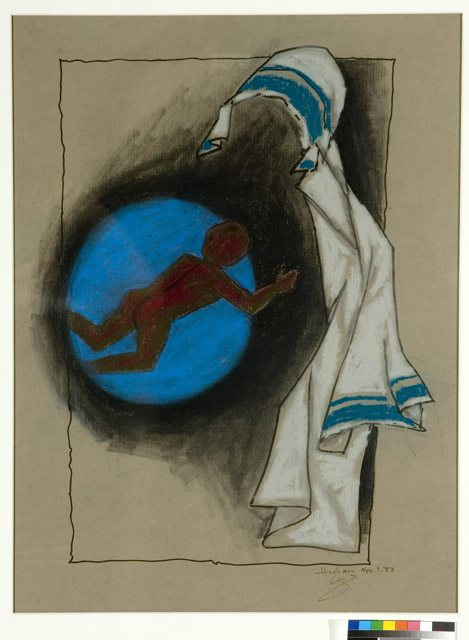 Mother (Mother Teresa), 1982 Maqbool Fida Husain