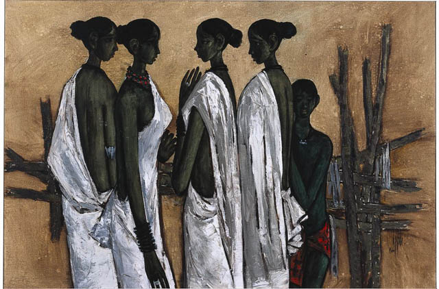 Four Women Conversing, 1966 By B.Prabha