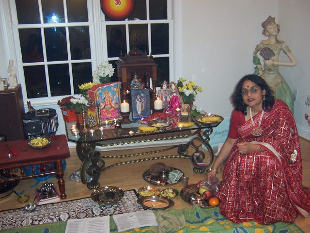 Anju Bhargava is a Hindu woman priest and conducts religiuous ceremonies