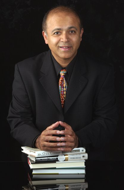 Dr. Abraham Verghese. author of Cutting for Stone
