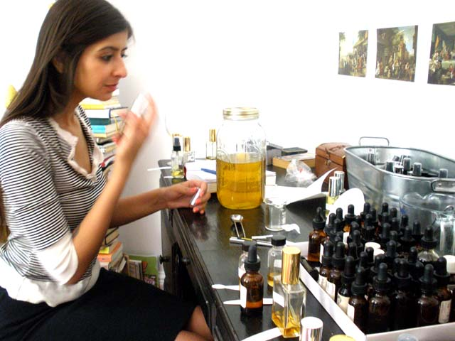 Kavi Ahuja tests the perfume