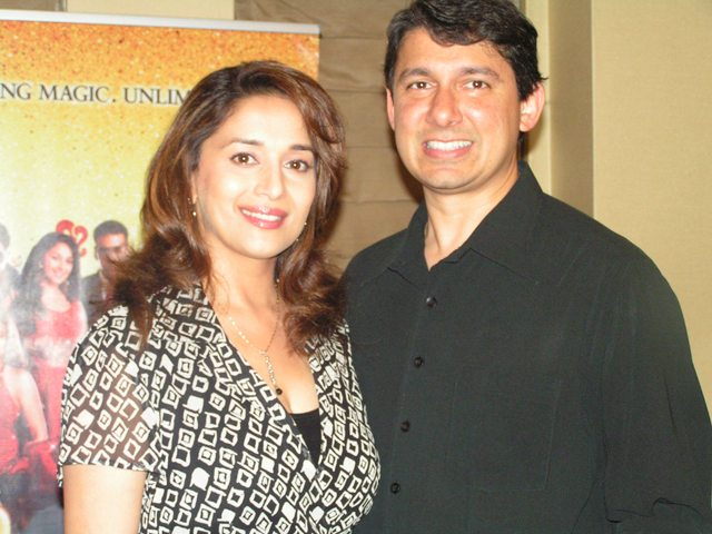 Madhuri Dixit, the Bollywood superstar, with her husband Dr. Sriram Nene