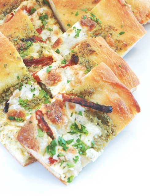 Mushroom Crostata with Pesto