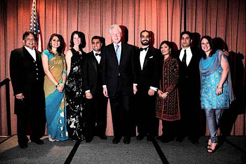 President Clinton with AIF Fellows