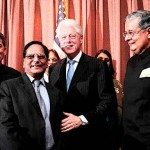 Rajat Gupta, Dr Anji Reddy, President Clinton and Victor Menezes