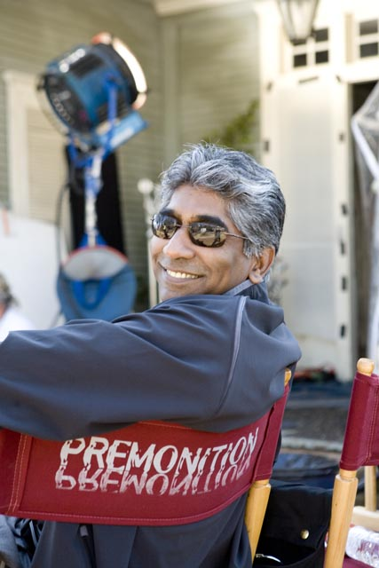 Ashok Amritraj on the sets of Premonition