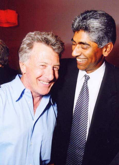 Dustin Hoffman and Ashok Amritraj at the premiere of Moonlight