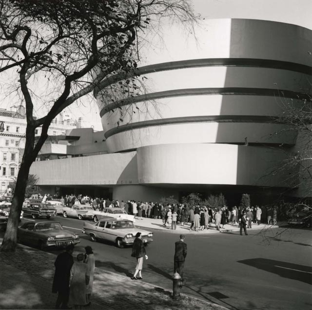 Opening ceremonies at the Guggenheim 50 years ago