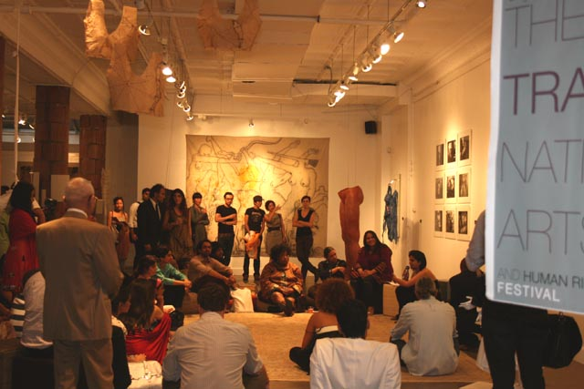 Purdah, an art exhibition organized  by Engendered