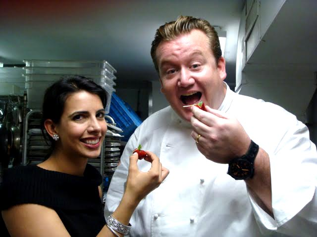 Divya Gugnani with chef Michael White