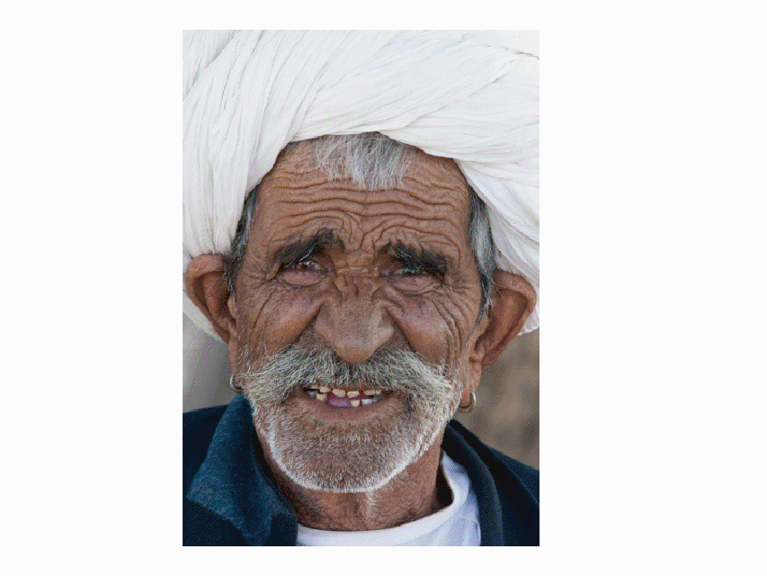 India Exposed by Clive Limpkin. The Subcontinent A-ZAn elderly villager, Nimaj, Rajasthan