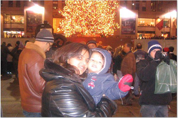 Indian Christmas: Beverly D'Souza and Luke experience Christmas at Rockefeller Center