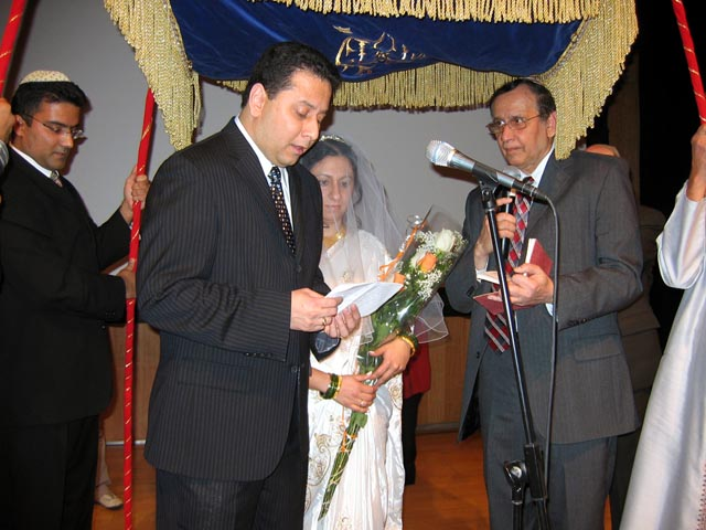 An Indian-Jewish wedding ceremony