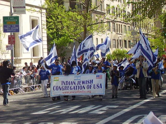 Indian Jews march in the Israel Day Parade in New York