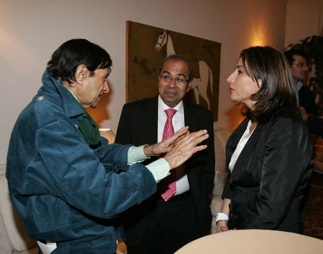 Meera Gandhi with Dev Anand