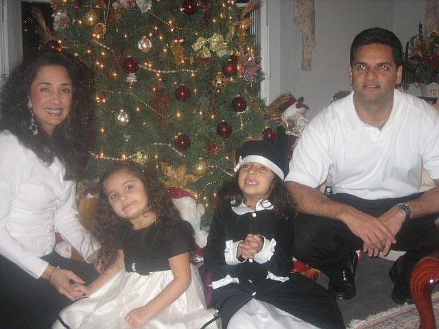An Indian Christmas: Mohina and Ricky Joshin with Zarina and Sabina