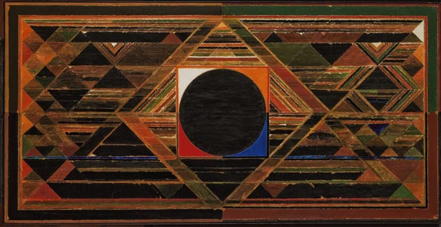 Syed Haider Raza, Gestation, acrylic on canvas, painted  in 1989