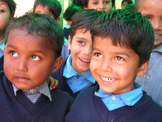 Smiling faces at a CH balwadi in Delhi, Children's Hope India