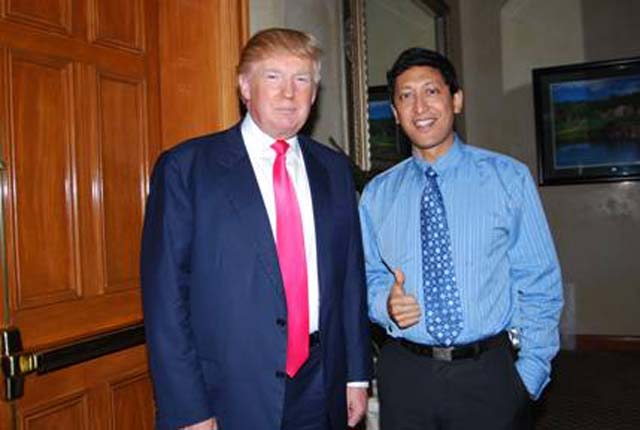 Donald Trump and Dan Nainan