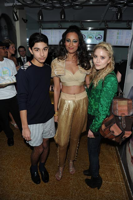 Radhika Oswal with Mark Indelicato and Mary Kate-Olsen at Otarian