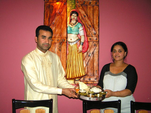 Dinu and Mamta Mulloi of Yogi's Kitchen            Photo - Lavina Melwani