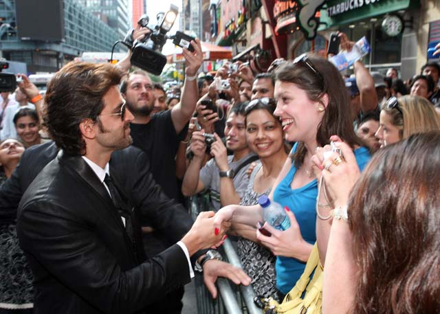 Hrithik Roshan meets fans at the New York premiere of 'Kites'