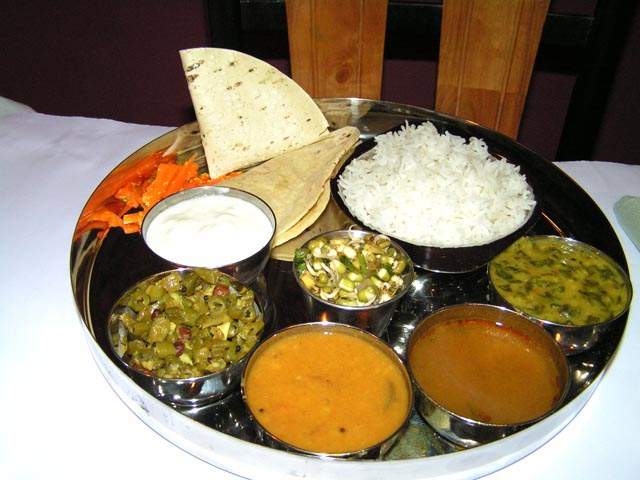 The Spiritual Awakening North Thali at Yogi's Kitchen is based on Ayurveda. Photo - Lavina Melwani