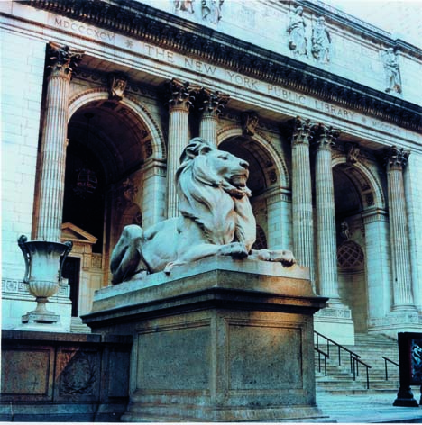 Library lions at the New York Public Library - Photo Don Pollard