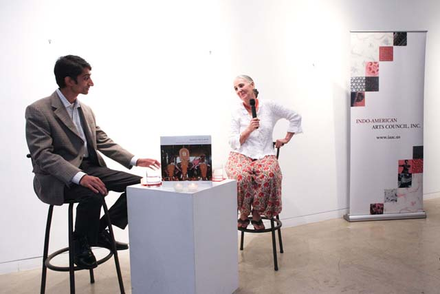 Pepita Seth, author of 'Heaven on Earth' being interviewed by Arun Venugopal