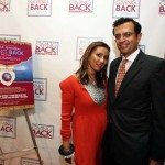 Meera and Vikram Gandhi at the premiere of 'Giving Back'