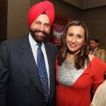 Sant Singh Chatwal with Meera Gandhi at 'Giiving Back'