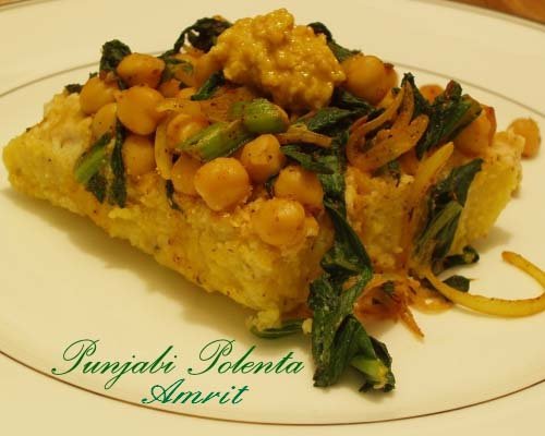 Punjabi Polenta from Amrit, a book on heart healthy Indian cuisine