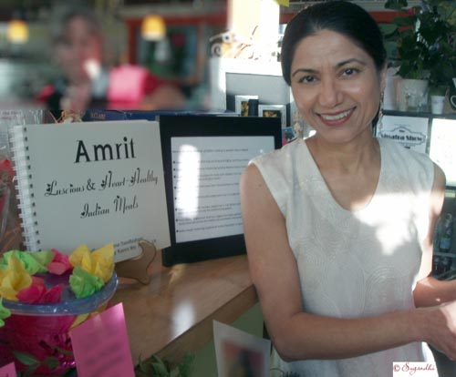 Purnima Nandkishore, author of Amrit, a book on heart healthy Indian cuisine