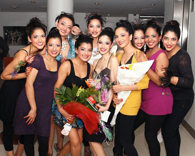 The Sa Dancers with Artistic Director Payal Kadakia