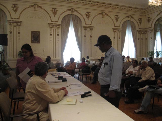 Indian-Americans getting their OCI cards at a special camp organized by the Indian Consulate