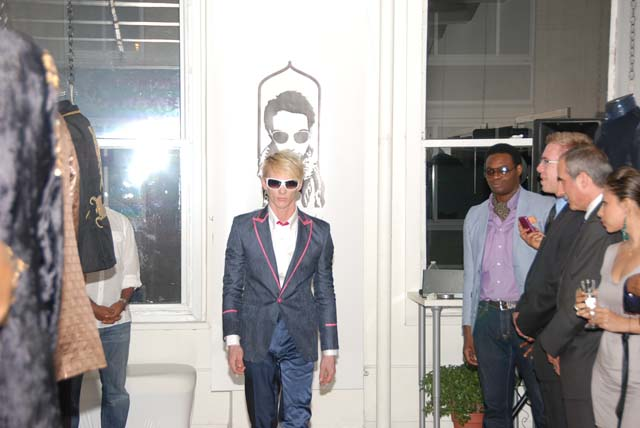 Menswear couture by Saran Kohli in New York