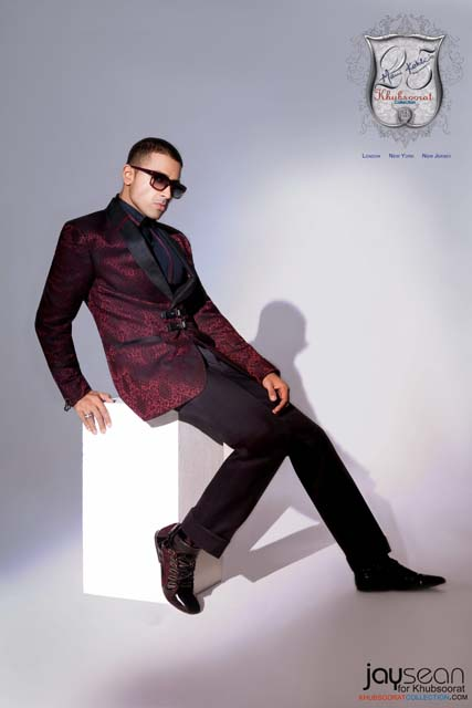 Jay Sean in an outfit by Saran Kohli