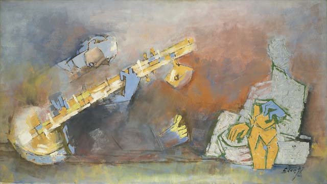 M.F. Husain - Untitled (Sitar Player) at Sotheby's Asian Art Week