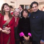At the book launch of 'At Home with Madhur Jaffrey, Sunanda Tharoor, Aroon Shivdasani, Madhur Jaffrey and Shashi Tharoor