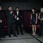 L.to R. Manish Israni, Suketu Mehta, Karan Johar, Carishma Khubani & Aroon Shivdasani at the Evening in Mumbai Gala