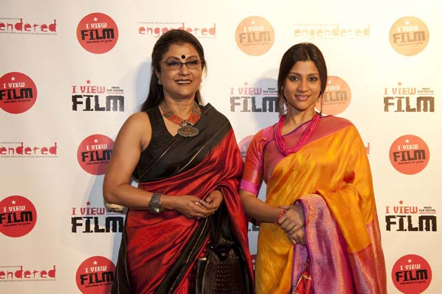 Aparna Sen and Konkona Sen at Engendered's I-View Film Festival