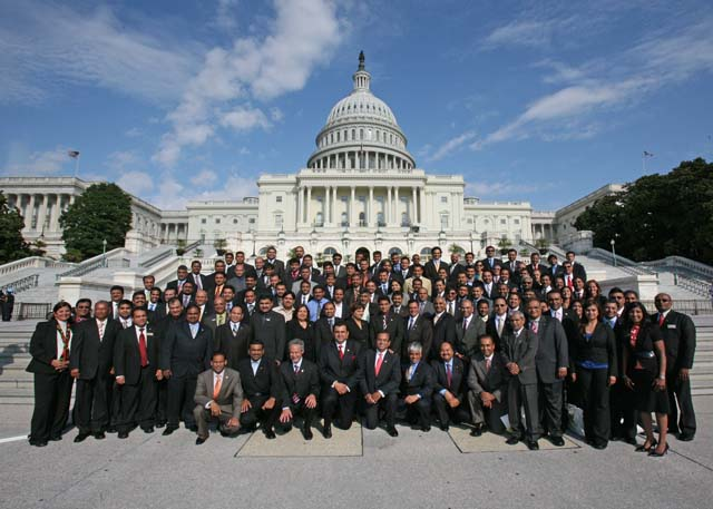 Indian-Americans have become active players in American politics. Here the members of AAHOA in Washington DC