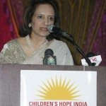 Dr. Dina Pahlajani, president of Children's Hope India