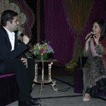 Karan Johar and Mira Nair banter with each other at An Evening in Mumbai, organized by Children's Hope India.