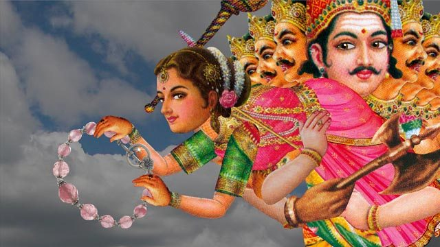 Sita is abducted by Ravana in Sita Sings the Blues, a film by Nina Paley