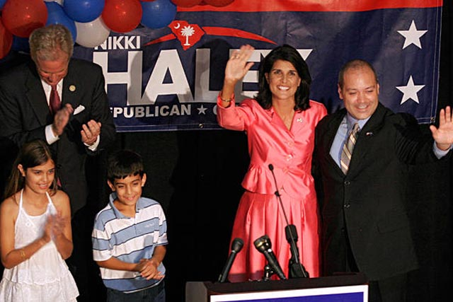 Nikki Haley is the first woman and first Indian-American to be elected Governor of South Carolina