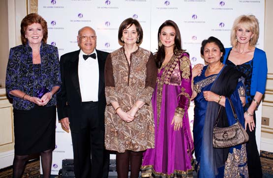 Raj and Veena Loomba, Cherie Blair, Preity Zinta and Joanna Lumley were in New York to raise funds for widows at the Loomba Foundation dinner