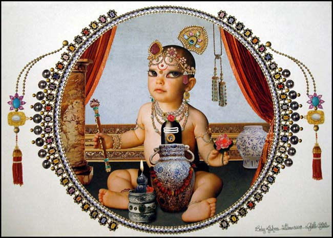 A Matter of Faith - Baby Krishna by Roberto Custodio, a tribute to Hindu deities.