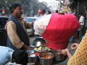 'Phucka' is a popular street food in Kolkata in India